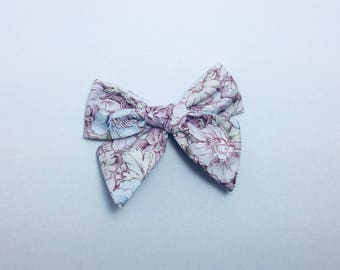 Vintage Flower Garden Bow • SchoolGirl Bow • Floral Hair Bow • Hand-tied Bow Headbands • Vintage Bows • Toddler HairBows • Baby Girl Bows