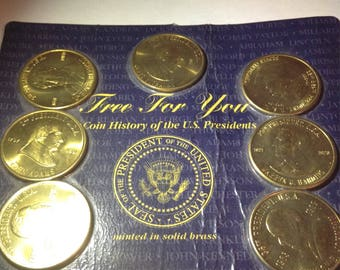 1997 5-Coin Mint BU Presidential Coins Set-- Minted in Brass!