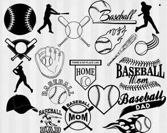 Baseball SVG, Baseball clipart, Baseball Silhouette, svg files, svg files for silhouette cameo or cricut, baseball mom, baseball dad, batter