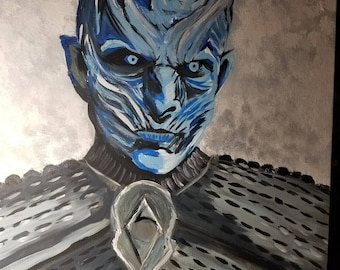 Game of Thrones The Night King 16x20 acrylic painting