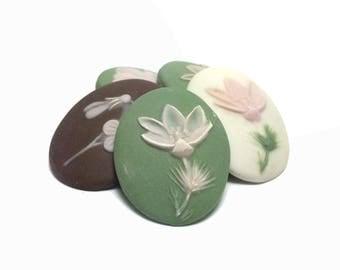 Porcelain Floral Pendants