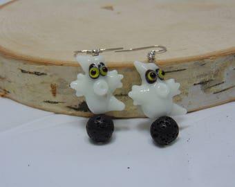 Ghostly earrings