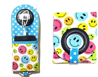 """Door phone charger pouch portable charger """"Smiles colors"""""""