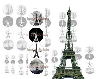 digital print, images Paris black and white.