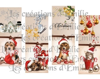 brand pages to print cats and dogs celebrating Christmas 2