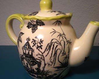 Super cute Asian scene teapot, made in China