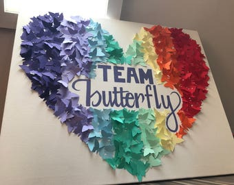 Butterfly, Rainbow, Mothers day, Birthday, Calligraphy, Wall Art, Nursery, Girls Bedroom, Butterflies, Heart, Love, Canvas, Baby Shower