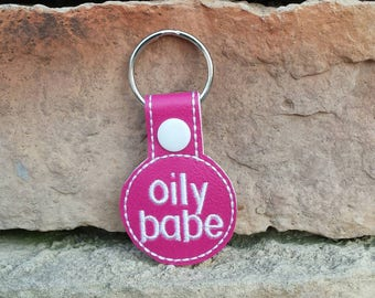 Oily Babe Keychain, Essential Oil Key Fob