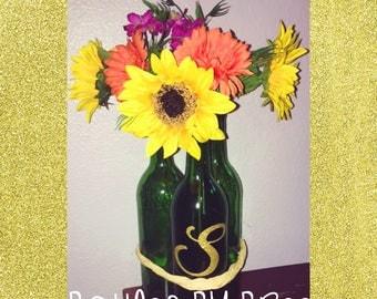 Sunflower Wine Bottle Set