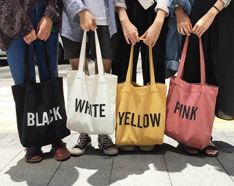 """Korean Style """"Color"""" tote bags"""