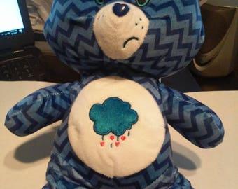 "Care Bears Plush Toy Blueberry Stormcloud Grumpy Bear 13"" Kellytoy BNWT"