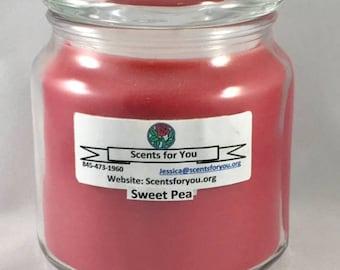 Sweet Pea Large Candle