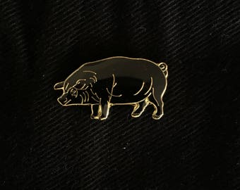 Black Pig Enamel Pin
