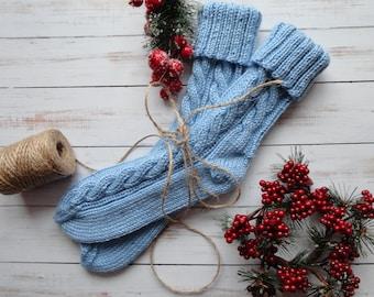 Knitted Socks,  Hand Knit Socks, Warm Socks, Knitted Slippers, Socks Womens, Womens Slippers, Handknit Socks, Cold Feet Socks