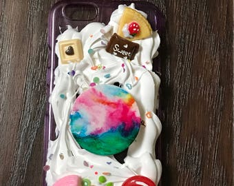 iPhone 6 and 6s case with fake whip cream Deco