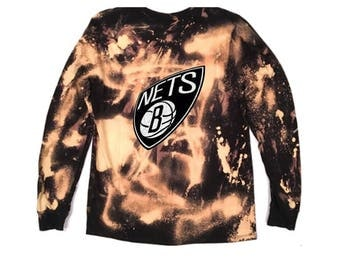 Bleached Destroyed Brooklyn Nets T-Shirt