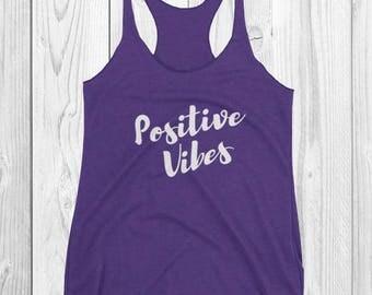 Positive Vibes ~ Purple Tank Top