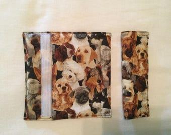 Dog theme Padded Car Seatbelt covers (Set of 2)