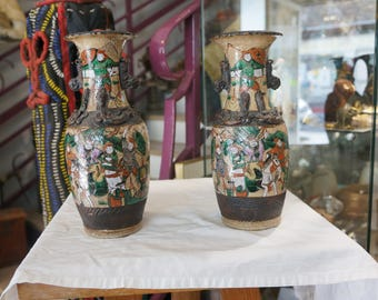 Set of two vases the 19th century Chinese Nankin