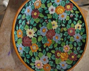 MONACO floral ceramic dish