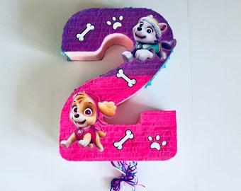 Birthday Celebration Skye & Everest Pinata (Paw Patrol). Birthday celebration Piñata Skye and Everest (canine patrol)