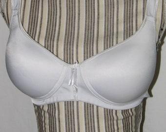White Seamless Modified Padded Mastectomy Bra -  44D
