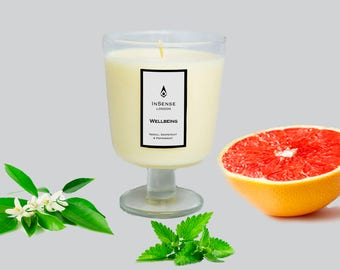 Wellbeing Aromatherapy Candle (100% NAtural Say Wax & Essential Oils)