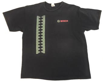 Vintage 90's Bosch Engineer Black T-shirt - Adult XL