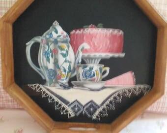 Victorian Tea Tray(wood)