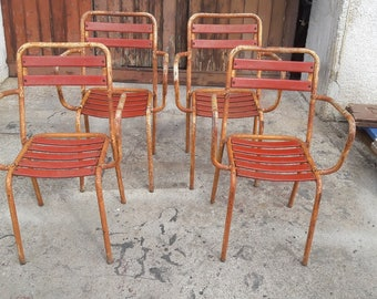 Set of 4 chairs garden Bistro ep 1940/50