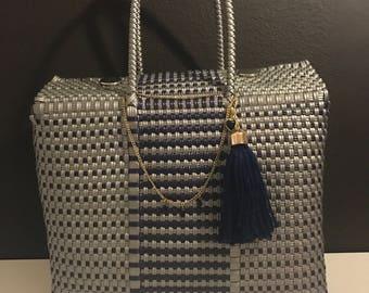 Mexican Woven Handbag, Mexican Handmade Purse, Ethnic Travel Bag, Unique Tote Bag, Hobo Handbag,