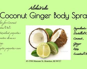 Coconut Ginger Body Spray