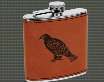 Leatherette Flask - Eagle Designs
