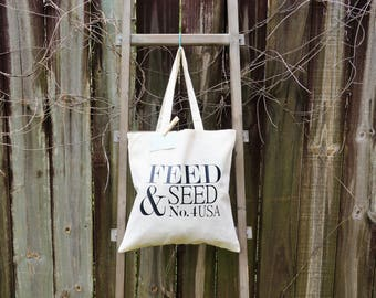 Natural Tote Bag | 100% Cotton Tote | Grocery Tote | Shopping Tote | Fresh Produce Tote | Farmers Market Tote | Grocery Shopping Tote Bag