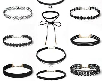 Velvet Lace Ribbon Choker Bundle Sale 10pcs