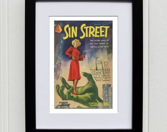1950's Pulp Fiction book cover - Sin Street
