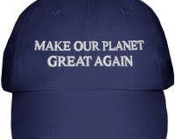 Make Our Planet Great Again Hat (Blue)