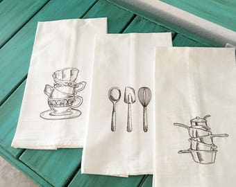 Flour Sack Kitchen Towel set of 3