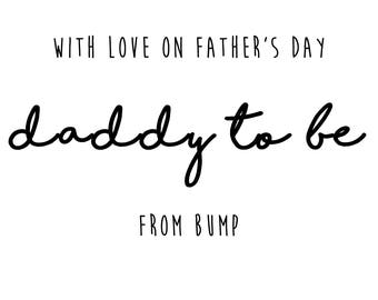 Expectant Father's day card - Father's day - Father's day card - Dad card - Card for Daddy - Soon to be Dad
