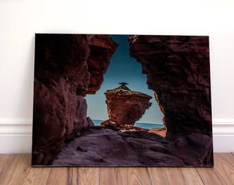 Rocks on horizon wall art canvas