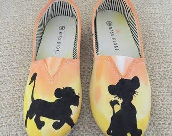 Tie dye handpainted custom shoes