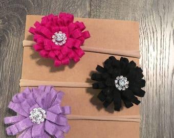 Multicolor Felt Flower Headbands