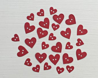Heart Buttons Die Cuts