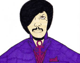 Prince - One Off Sketch Card