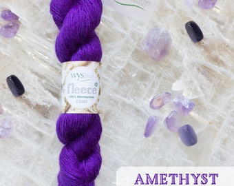 100% Wensleydale Gems Collection DK -Amethyst