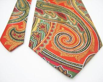 Dior necktie Silk Tie plama Paisley