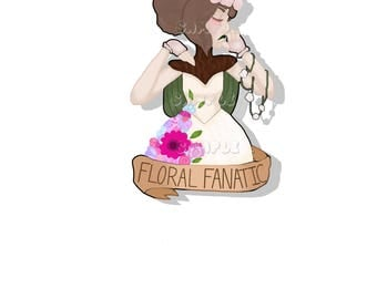 Floral Fanatic Glossy Sticker