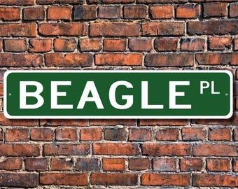 Beagle ,Beagle Gift, Beagle Sign, Dog Lover Gift, Custom Street Sign, Quality Metal Sign,