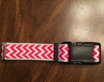 Pink Chevron Collar!