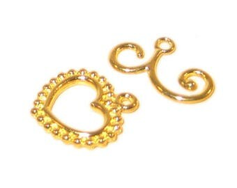20 x 18mm Gold Toggle Clasp